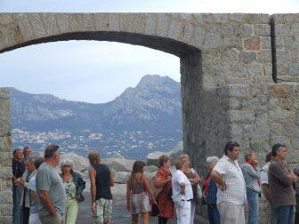 people at the citadel of Calvi
