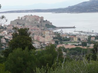 The first walk from Calvi on Corsica, France