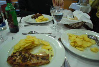 dishes on the table at a restaurant in Oporto