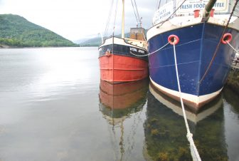 the boats on Loch Fyne