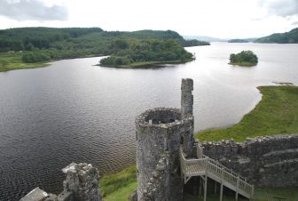 the view from Kilchurn Castle
