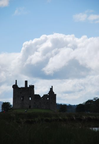 the silhouette of Kilchurn Castle