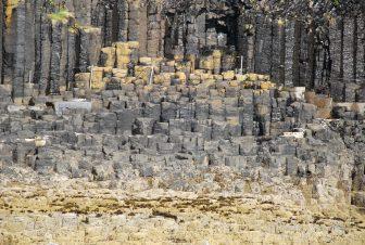 the stone pillars of Isle of Staffa