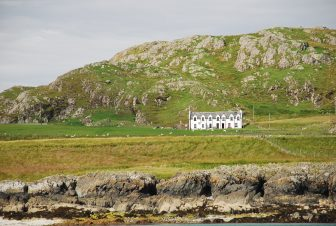 an isolated house on Isle of Iona