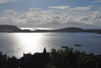 the view of Oban Bay
