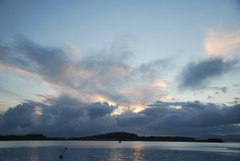 Oban's sky and the sea in the evening