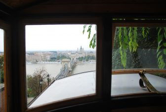 the view from the funicular in Budapest