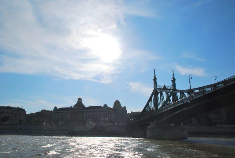 The pleasure boat on Danube
