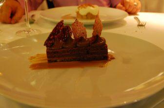 the chocolate cake at the restaurant Aranyszarvas