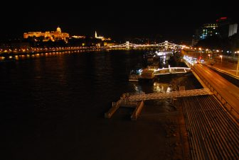 the view from Elisabeth Bridge at night