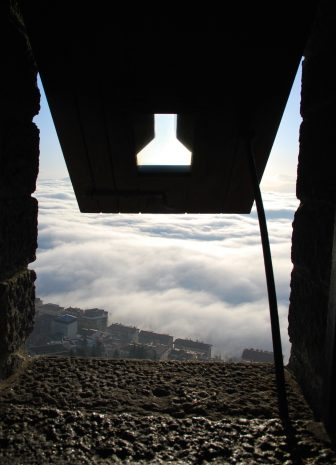 the view from the castle in San Marino