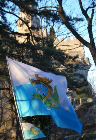 the national flag of San Marino