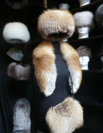a fur hat shop in Keszthely