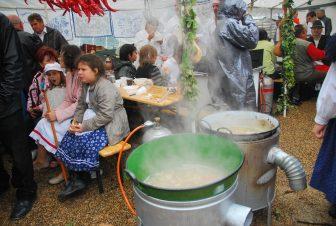 バラトン湖畔の芋祭り