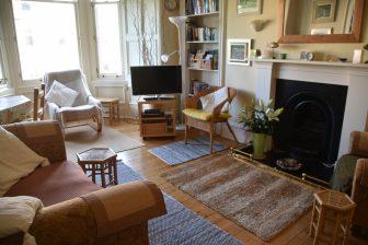 the living room of Airbnb in Edinburgh