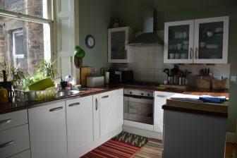 エディンバラのエアビーのキッチン