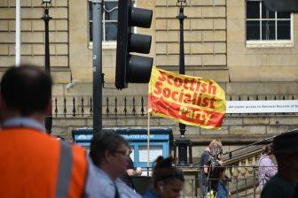 スコットランド社会党の旗