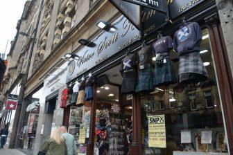 a souvenir shop in Edinburgh