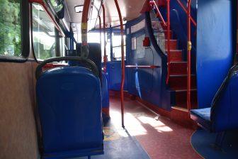 エディンバラのバスの中
