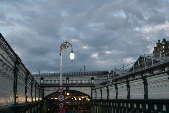 Edinburgh station at 10 pm