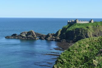 looking back at Dunnottar Castle