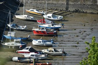 fishing boats at the port of Stonehaven