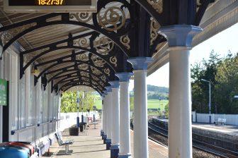 the platform of Stonehaven station