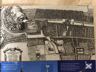 La mappa di Edimburgo nel 1647 vista nel The Real Mary King's Close