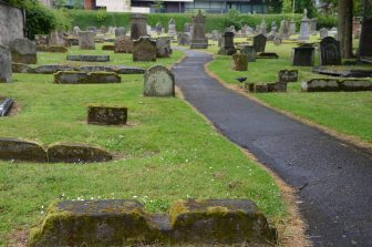 the old cemetery in the site of the Dunfermline Abbey