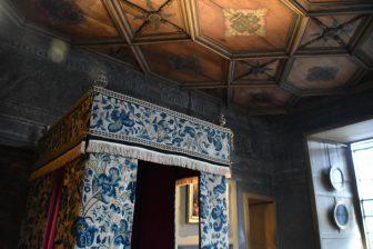 La camera da letto a nel Palazzo di Holyroodhouse