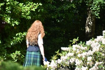 a woman with ginger hair in Edinburgh