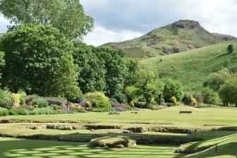I giardini del palazzo di Holyroodhouse