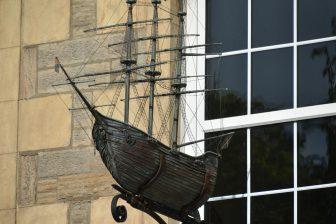 a model ship seen in Leith