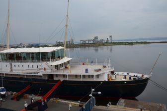 The Royal Yacht Britannia moored in Leith