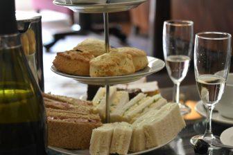 afternoon tea at Brooks Hotel in Edinburgh