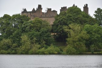 Linlithgow Palace seen from the park
