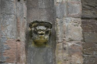 a decoration of Melrose Abbey