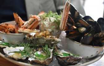 the seafood platter at The Barn at Beal, the restaurant in Northumberland