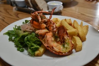 the lobster at The Barn at Beal in Northumberland