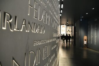 the names on the wall of Museo dell'Opera del Duomo