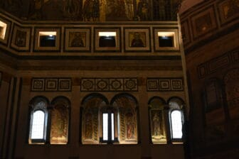 the windows of the baptistery